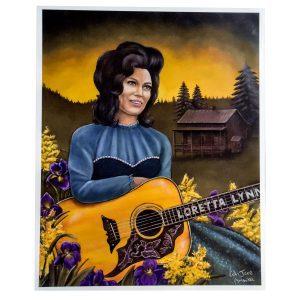 Loretta Lynn Retro Poster