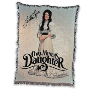 Coal Miners Daughter Vintage Throw